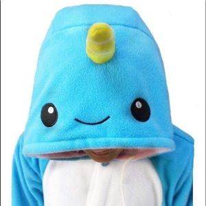 WotoGold Intimates & Sleepwear - 🐳 Narwhal Onsie with pockets!